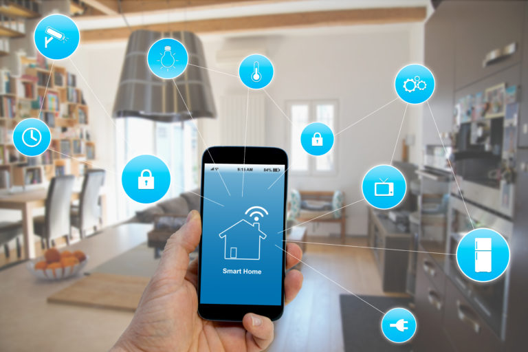 Gebäudeautomation, gesteuert über das Smartphone